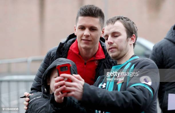 Guido Carrillo of Southampton FC meets fans for the first time ahead of the FA Cup 4th round match between Southampton FC and Watford at St Mary's...
