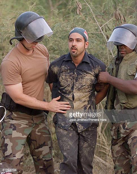 Guido Cedillo Is Arrested By US Navy Personnel June 19 2001 On The Puerto Rican Island Of Vieques After Trespassing On Restricted Grounds At The Camp...
