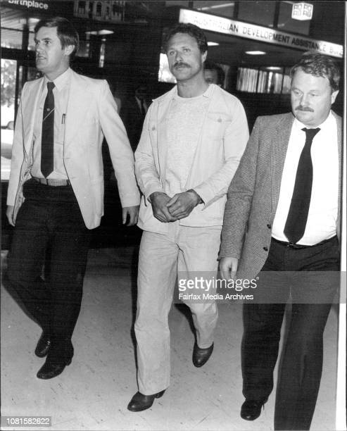 Guido Johannes Steger Printer from Munich Germany pictured at Sydney Airport before being deported to Germany for $5000 Counterfeit charge in US...