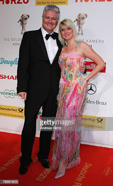 Guido Knopp and Gabriella Knopp arrive at the Goldene Kamera Award 2008 at the Ullsteinhalle on February 6, 2008 in Berlin, Germany.