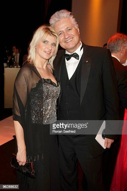Guido Knopp and Gabriella Knopp attend the Goldene Kamera 2010 Award at the Axel Springer Verlag on January 30 2010 in Berlin Germany