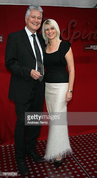 Guido Knopp and hhis wife Gabriella Knopp attend the annual Bertelsmann party on September 13 2007 in Berlin Germany