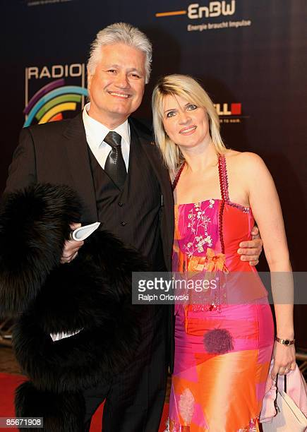 Guido Knopp and his wife Gabriella Knopp arrive for the Radio Regenbogen Award at the Schwarzwaldhalle on March 27, 2009 in Karlsruhe, Germany.