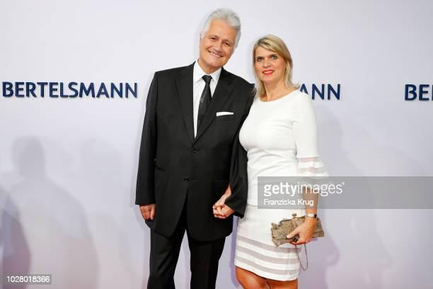 Guido Knopp and his wife Gabriella Knopp attend the Bertelsmann Summer Party at Bertelsmann Repraesentanz on September 6, 2018 in Berlin, Germany.