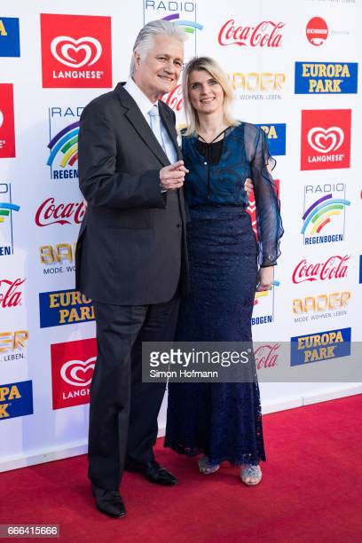 Guido Knopp and his wife Gabriella Knopp attend the Radio Regenbogen Award 2017 at Europapark on April 7, 2017 in Rust, Germany.