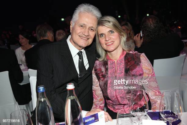 Guido Knopp and his wife Gabriella Knopp during the Radio Regenbogen Award 2018 at Europapark Rust on March 23, 2018 in Rust, Germany.
