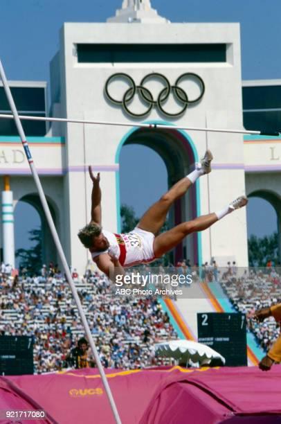 Guido Kratschmer Men's decathlon pole vault competition Memorial Coliseum at the 1984 Summer Olympics August 8 1984