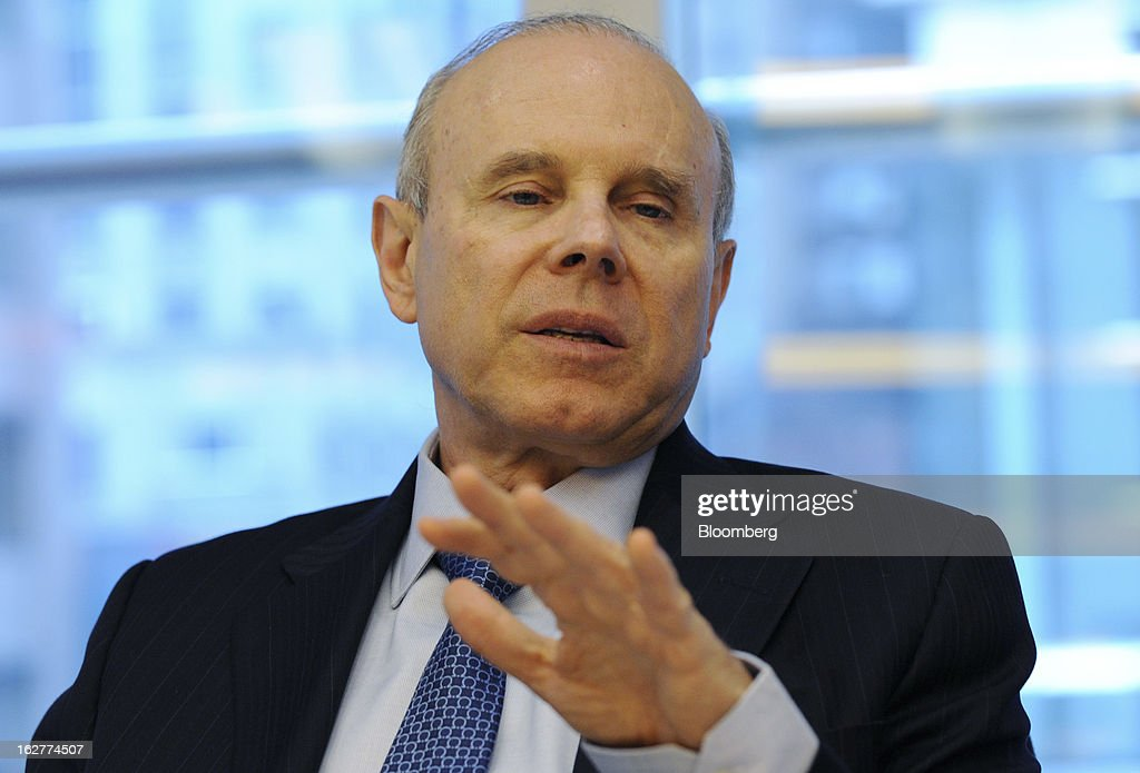 Guido Mantega, Brazil's finance minister, speaks during an interview in New York, U.S., on Tuesday, Feb. 27, 2013. Brazil will offer investors high rates of return for its infrastructure projects as it seeks to carry out a $235 billion investment plan, Mantega said today during a road-show that seeks to lure investors. Photographer: Peter Foley/Bloomberg via Getty Images