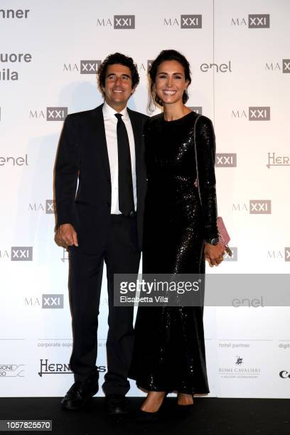 Guido Maria Brera and Caterina Balivo attend MAXXI Acquisition Gala Dinner at Maxxi Museum on November 5 2018 in Rome Italy