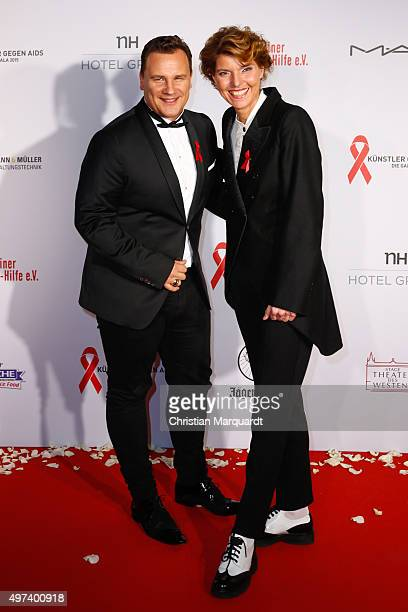 Guido Maria Kretschmer and Bettina Boettinger attend the Artists Against Aids Gala 2015 at Stage Theater des Westens on November 16 2015 in Berlin...