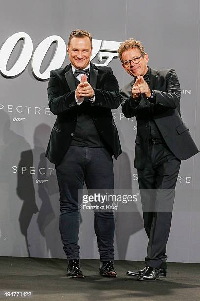 Guido Maria Kretschmer and Frank Mutters attend the Spectre' German Premiere on October 28 2015 in Berlin Germany