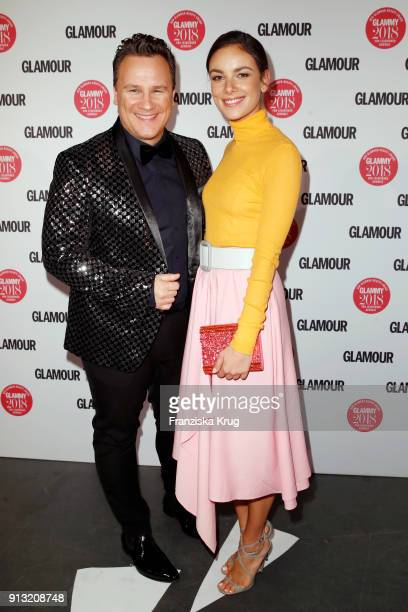 Guido Maria Kretschmer and Janina Uhse attend the Glammy Award 2018 on February 1 2018 in Munich Germany