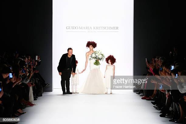Guido Maria Kretschmer and Zoe Helali walks the runway at the Guido Maria Kretschmer show during the MercedesBenz Fashion Week Berlin Autumn/Winter...