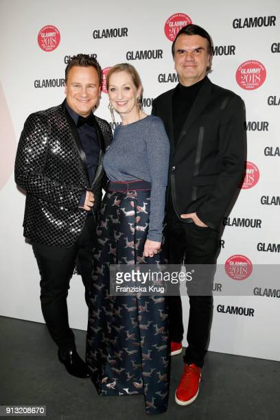 Guido Maria Kretschmer; Andrea Ketterer; Andre Pollmann attend the Glammy Award 2018 on February 1, 2018 in Munich, Germany.