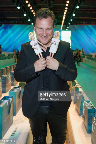 Guido Maria Kretschmer attends the Guido Maria Kretschmer show during the MercedesBenz Fashion Week Spring/Summer 2015 at Erika Hess Eisstadion on...