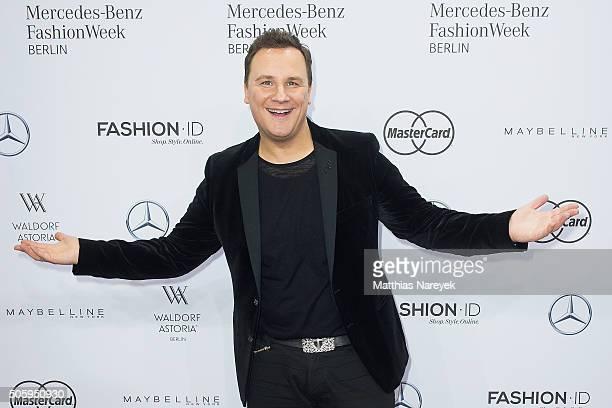 Guido Maria Kretschmer attends the Guido Maria Kretschmer show during the MercedesBenz Fashion Week Berlin Autumn/Winter 2016 at Brandenburg Gate on...