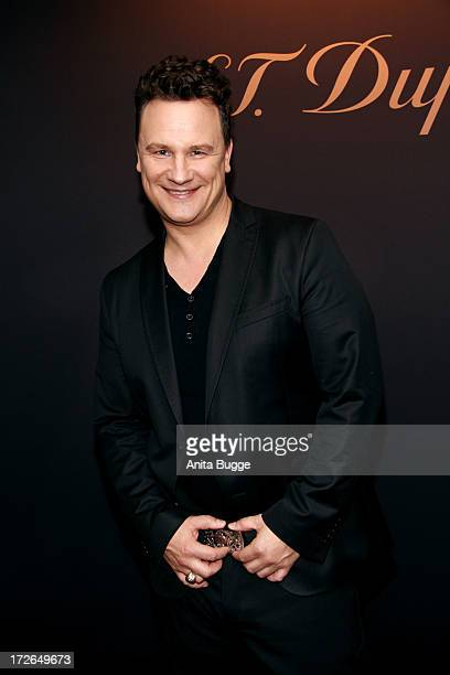 Guido Maria Kretschmer attends the launch of the new collection of S.T.Dupont with Karl Lagerfeld at Hotel Adlon on July 4, 2013 in Berlin, Germany.