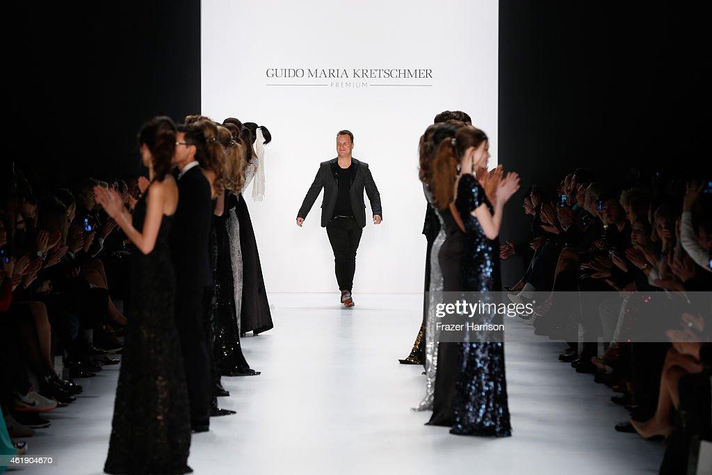 Guido Maria Kretschmer attends the runway of his Guido Maria Kretschmer show during the Mercedes-Benz Fashion Week Berlin Autumn/Winter 2015/16 at Brandenburg Gate on January 21, 2015 in Berlin, Germany.