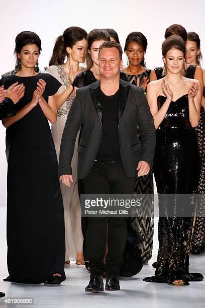 Guido Maria Kretschmer attends the runway of his Guido Maria Kretschmer show during the MercedesBenz Fashion Week Berlin Autumn/Winter 2015/16 at...