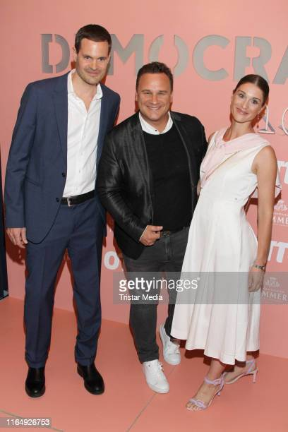 Guido Maria Kretschmer Benjamin Otto and his wife Janina Lin Otto attend the 70 Years OTTO #democratichome Limited Collection By Guido Maria...