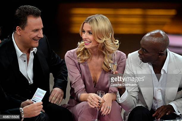 Guido Maria Kretschmer Lena Gercke and Bruce Darnell attend the taping of the anniversary show '30 Jahre RTL Die grosse Jubilaeumsshow mit Thomas...