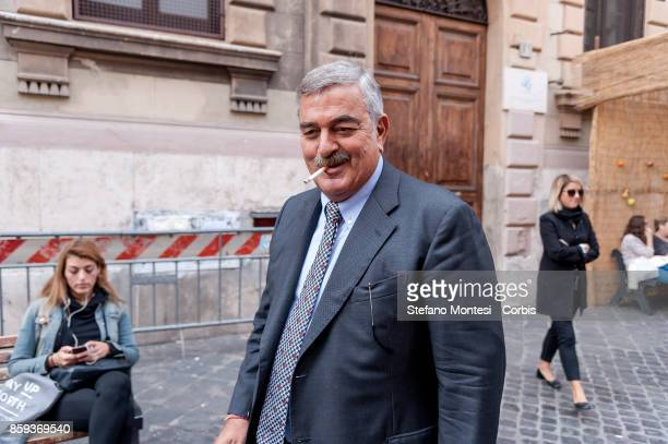 Guido Marino Quaestor of Rome during the commemoration of the 1982 terrorist attack at the Great Synagogue of Rome 1982 on October 9 2017 in Rome...