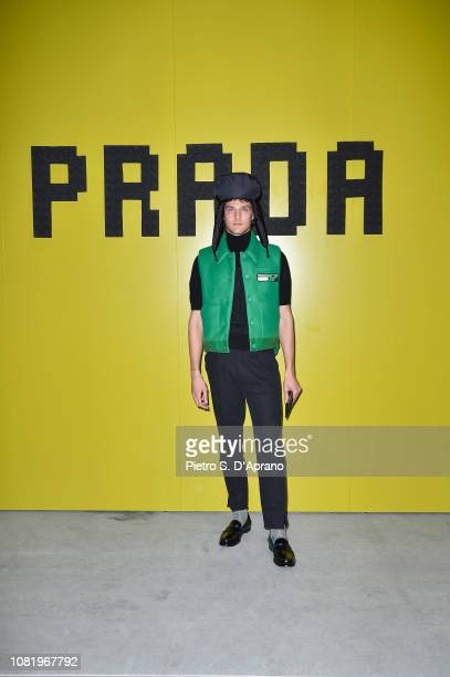 Guido Milani attends Prada F/W19 Men's and Women's Fashion Show on January 13, 2019 in Milan, Italy.