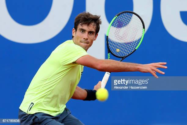 Guido Pella of Argentina during his qualification match against Jonathan Eysseric of France for the 102 BMW Open by FWU at Iphitos tennis club on...