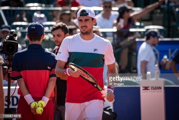 Guido Pella of Argentina look on during day 5 of ATP Buenos Aires Argentina Open at Buenos Aires Lawn Tennis Club on February 14, 2020 in Buenos...