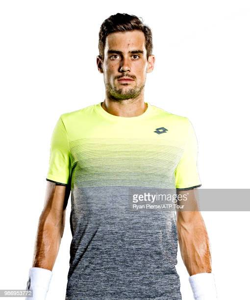 Guido Pella of Argentina poses for portraits during the Australian Open at Melbourne Park on January 11 2018 in Melbourne Australia