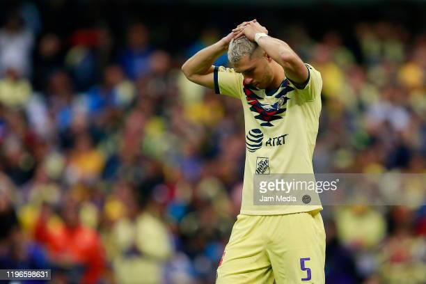 Guido Rodriguez of America lament after the Final second leg match between America and Monterrey as part of the Torneo Apertura 2019 Liga MX at...