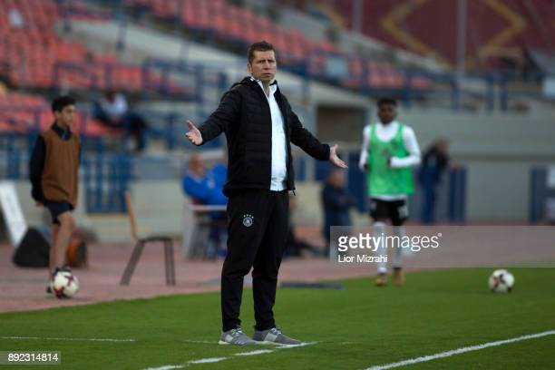 Guido Streichsbier Head Coach of Germany is seen during the U18 final match with Israel at the Winter Tournament on December 14 2017 in Ramat Gan...