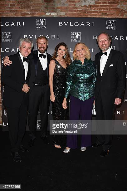 Guido Torlonia Toto Bergamo Rossi Ines Torlonia Alessandra Repini and Arturo Artom attend the Venetian Heritage And Bulgari Gala Dinner at Cipriani...