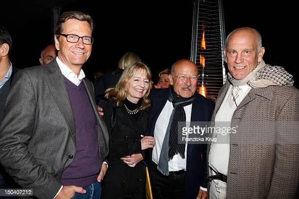 Guido Westerwelle Angelika Schloendorff Volker Schloendorff and John Malkovich attend the 'Seefestspiele' Open With Carmen in the Wannseebad on...