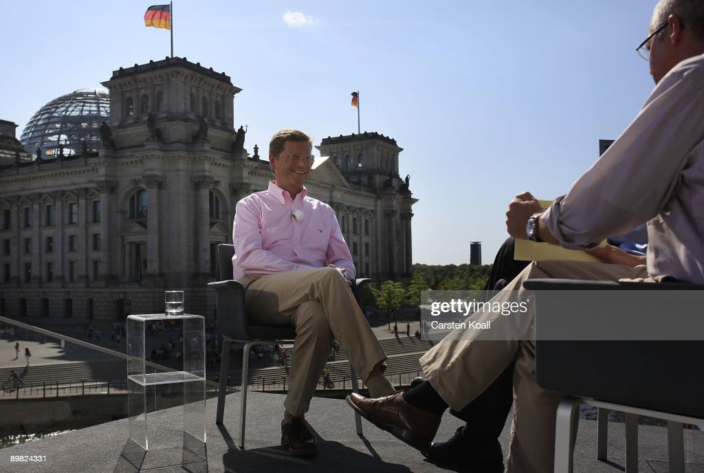 Guido Westerwelle Traditional Summer Interview : News Photo