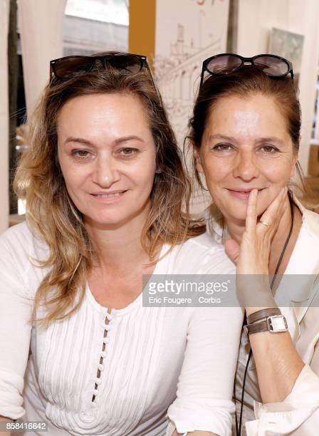 Guilaine Chenu and Françoise Joly poses during a portrait session in Paris France on
