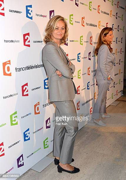 Guilaine Chenu attends the 'Rentree de France Televisions' at Palais De Tokyo on August 26 2014 in Paris France
