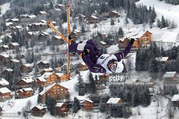 Guilbaut Colas of France takes first place during the FIS Freestyle World Cup Men's Dual Moguls on December 15 2010 in Meribel France