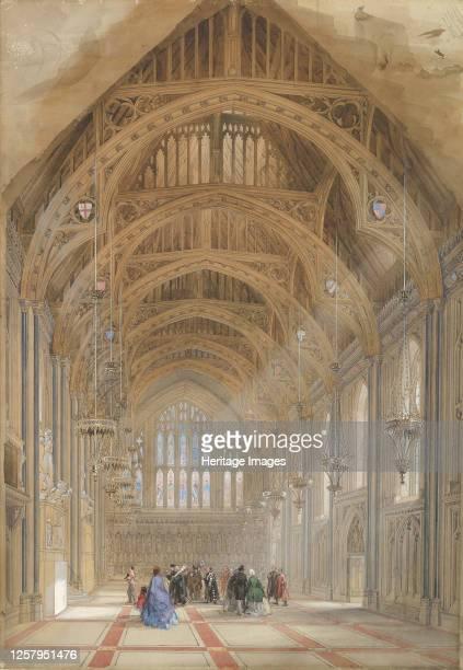 The Great Hall, Facing East, circa 1864. Artist Horace Jones.