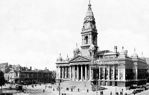 Guildhall Portsmouth Hampshire early 20th century Portsmouth'd Guildhall opened in 1890 Rebuilt after being badly damaged by German incendiary bombs...