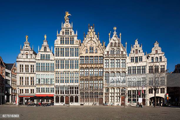 guildhalls - antwerp city belgium stock pictures, royalty-free photos & images