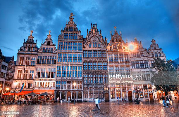 Guildhouses at the Grote Markt of Antwerp.