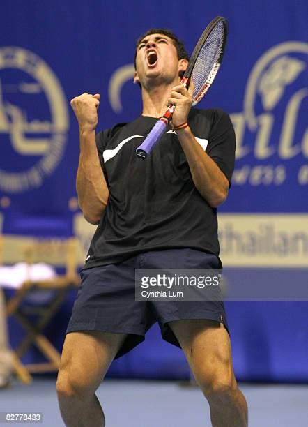 Guilermo GarciaLopez defeats John Paul Fruttero 36 63 76 in the first round of the Thailand Open in Bangkok Thailand on September 26 2005