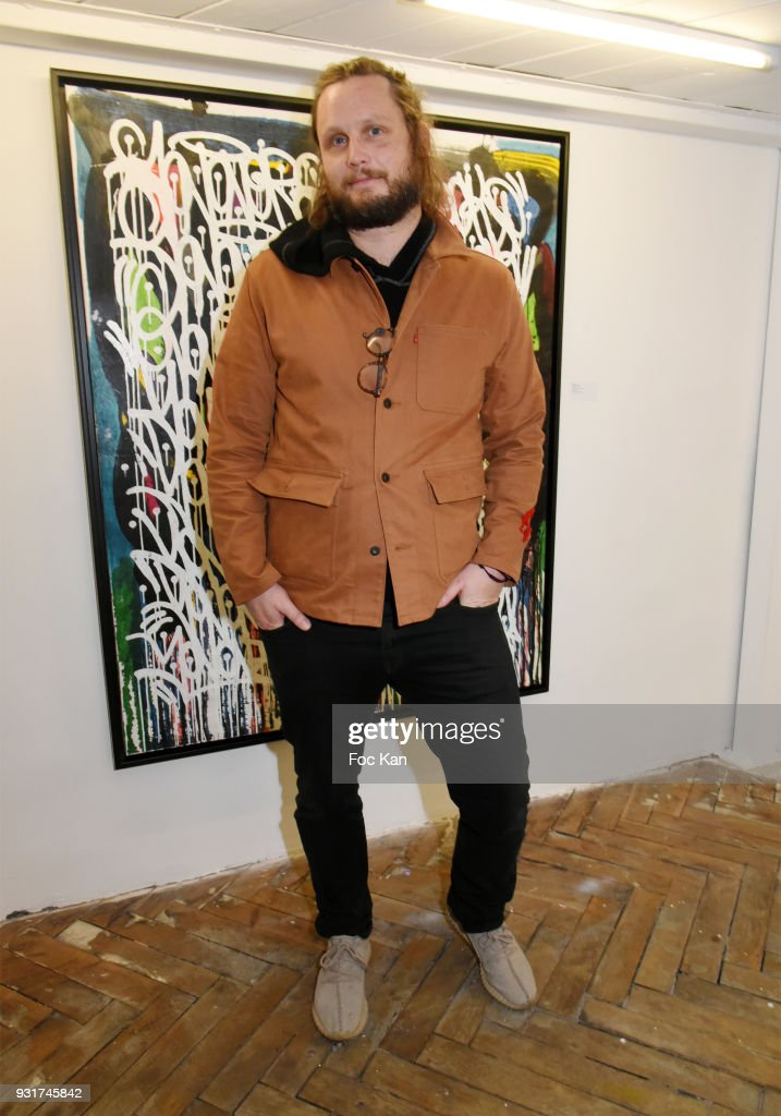 Guilhem de Castelbajac attends ÔÔBirth of The WindÕ JonOne PreviewÊÈ at Galerie Brugier Rigail on March 13, 2018 in Paris, France.