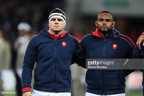 Guilhem Guirado and Jefferson Poirot of France during the rugby test match between France and Samoa on November 12 2016 in Toulouse France