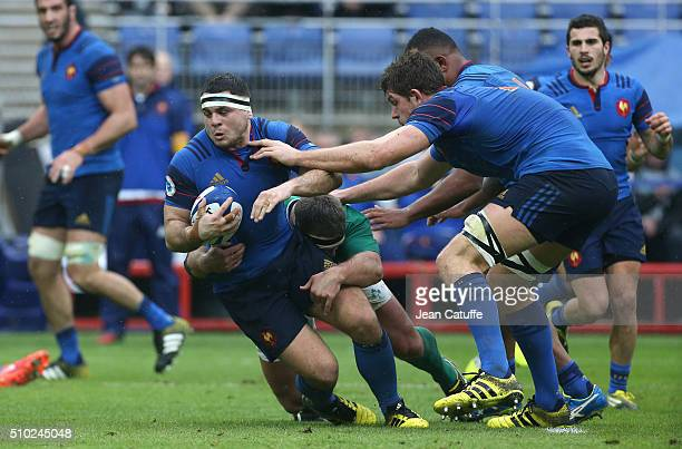Guilhem Guirado of France in action during the RBS 6 Nations match between France and Ireland at Stade de France on February 13 2016 in SaintDenis...