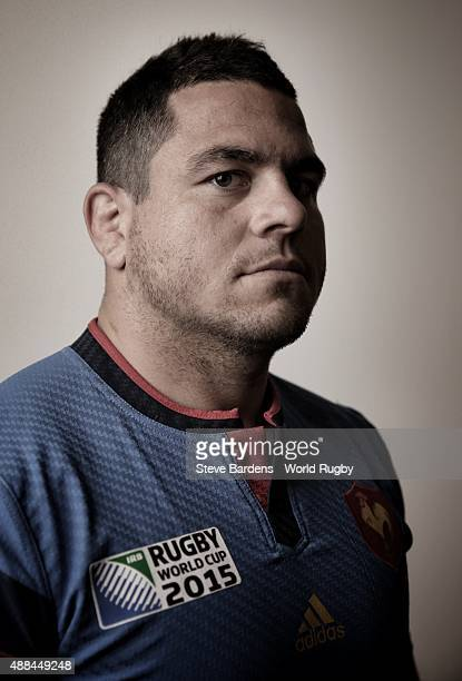 Guilhem Guirado of France poses during the France Rugby World Cup 2015 squad photo call at the Selsdon Park Hotel on September 15 2015 in Croydon...