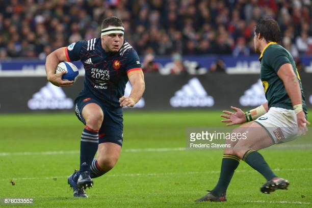 Guilhem Guirado of France runs with the ball during the test match between France and South Africa at Stade de France on November 18 2017 in Paris...