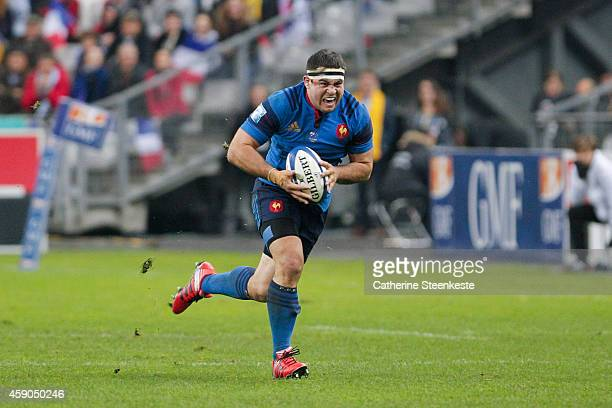 Guilhem Guirado of the French National team runs with the ball during the international friendly game between France and Australia at Stade de France...