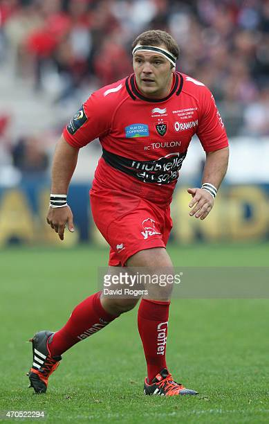 Guilhem Guirado of Toulon looks on during the European Rugby Champions Cup semi final match between RC Toulon and Leinster at Stade Velodrome on...